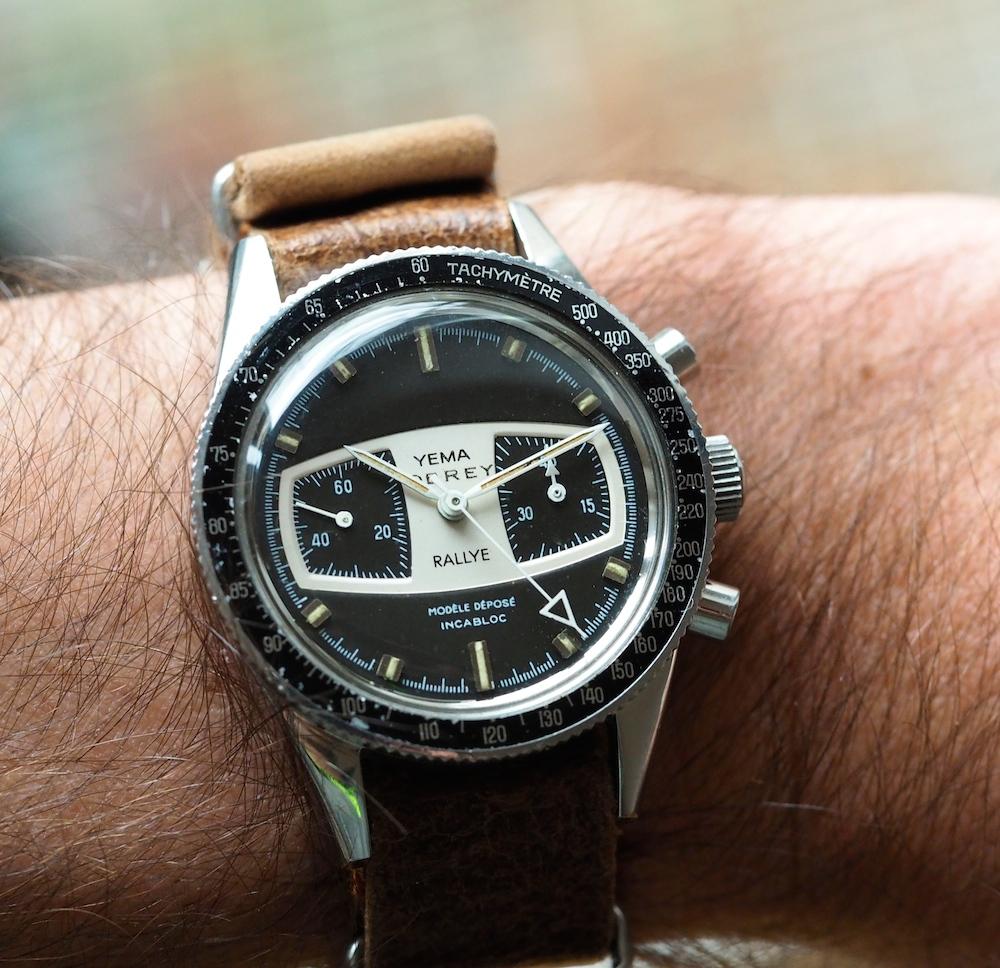 The Yema Rallye on the wrist