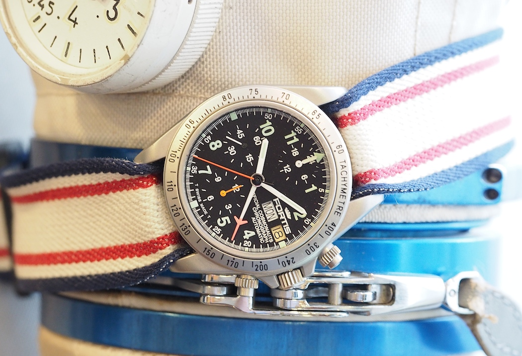 A space-used Fortis Comonauts Chronograph Automatic shown to us during Baselworld 2016
