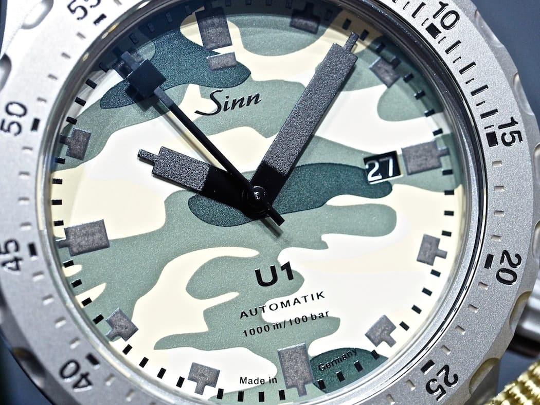 Sinn at Baselworld 2016: U1 Camouflage dial