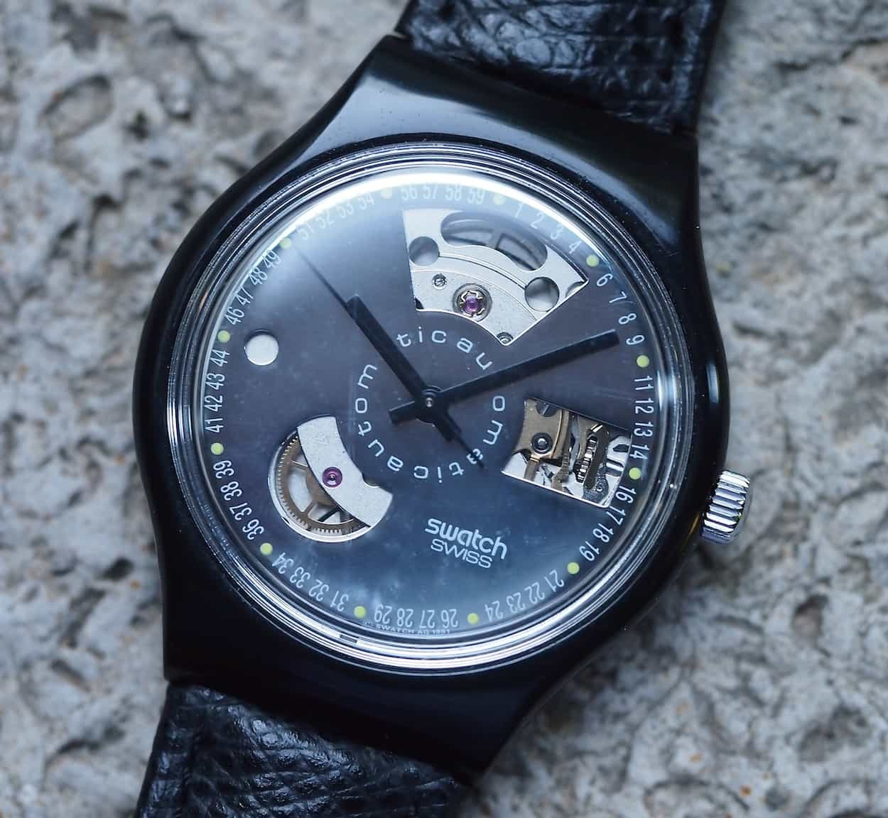 Swatch Automatic exposed dial