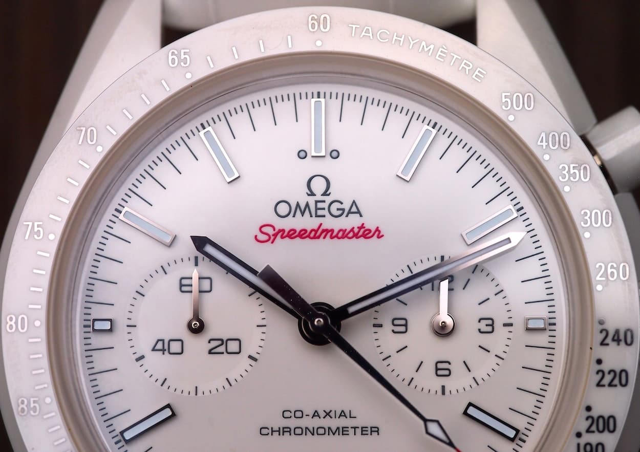 Speedmaster White Side of the Moon dial font