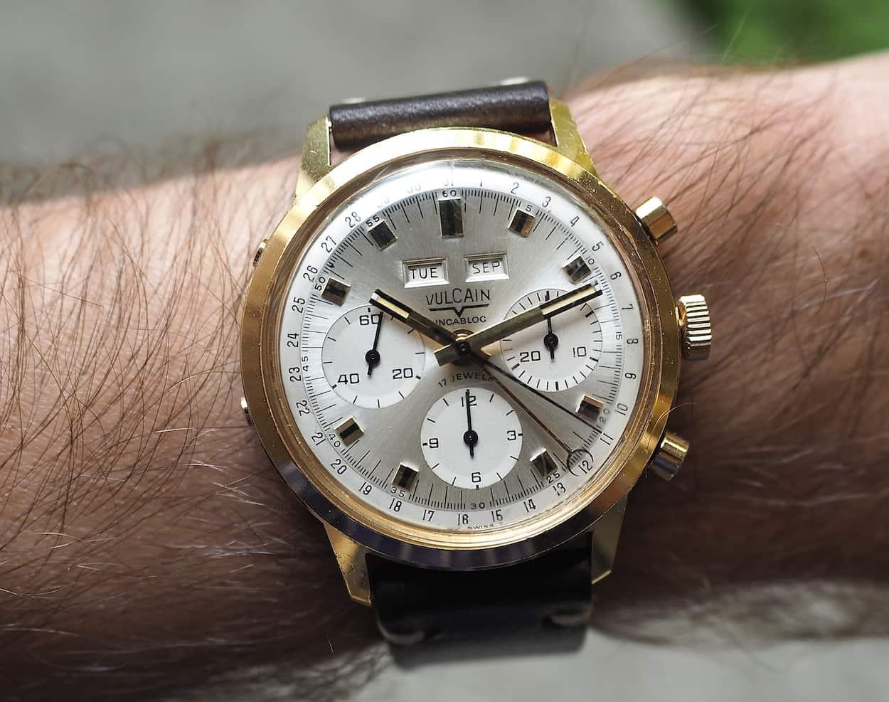 Vulcain Triple Date on the wrist