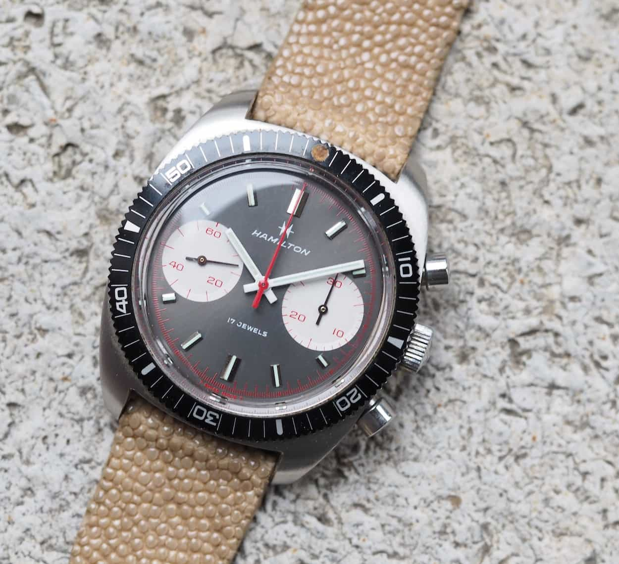 Hamilton Chrono-Diver looks nice on stingray
