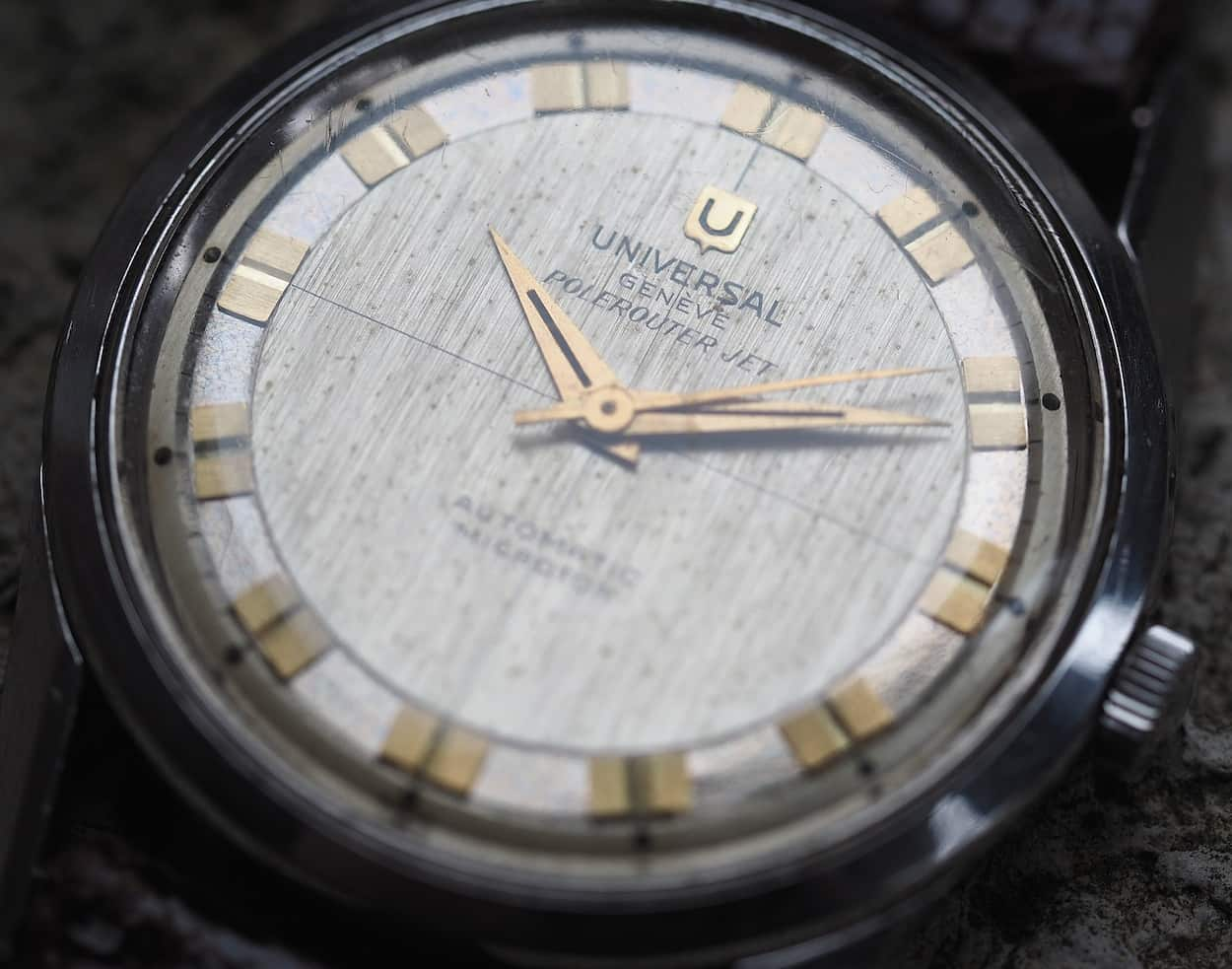 Spotting is normal for vintage dress watches as there wasn't much in the way of water resistance