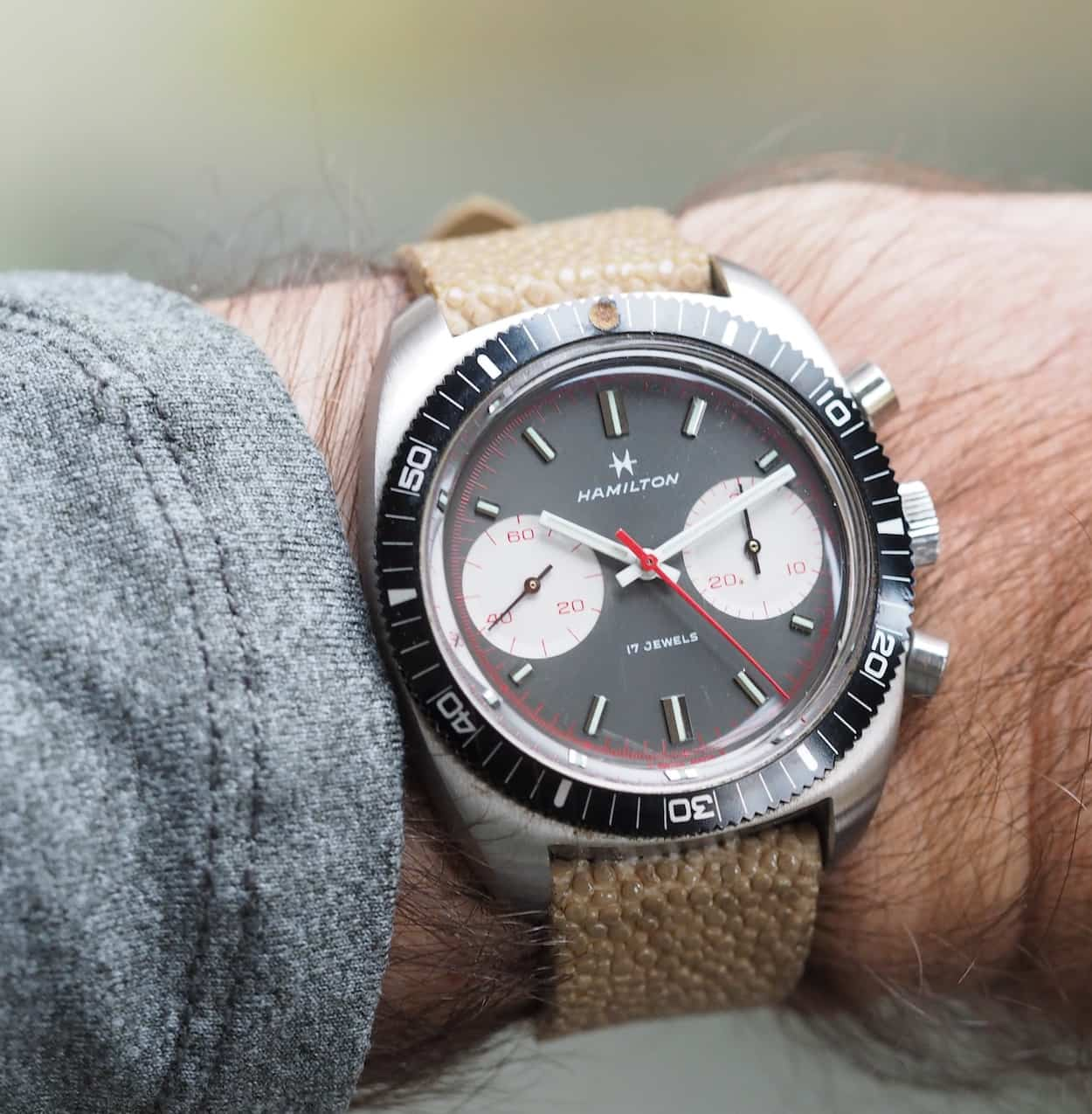Hamilton Chrono-Diver on the wrist