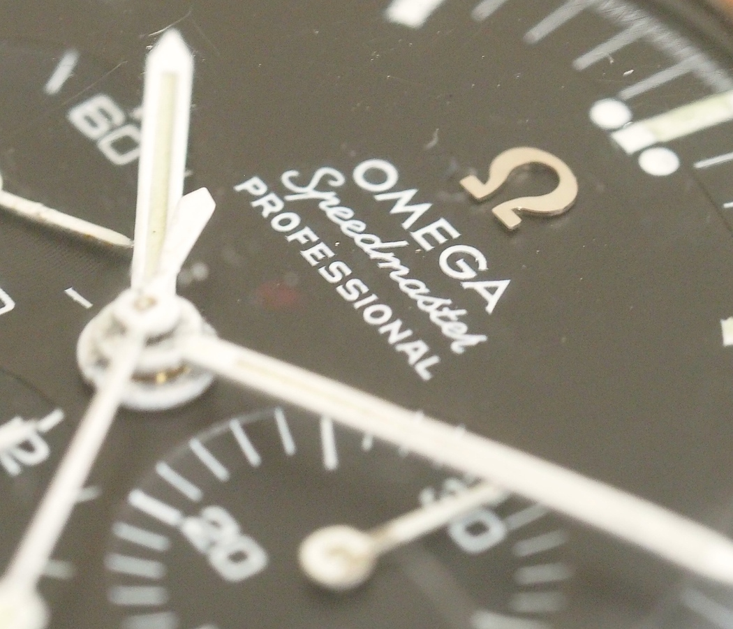 Another view of the Omega Speedmaster 145.012 applied logo