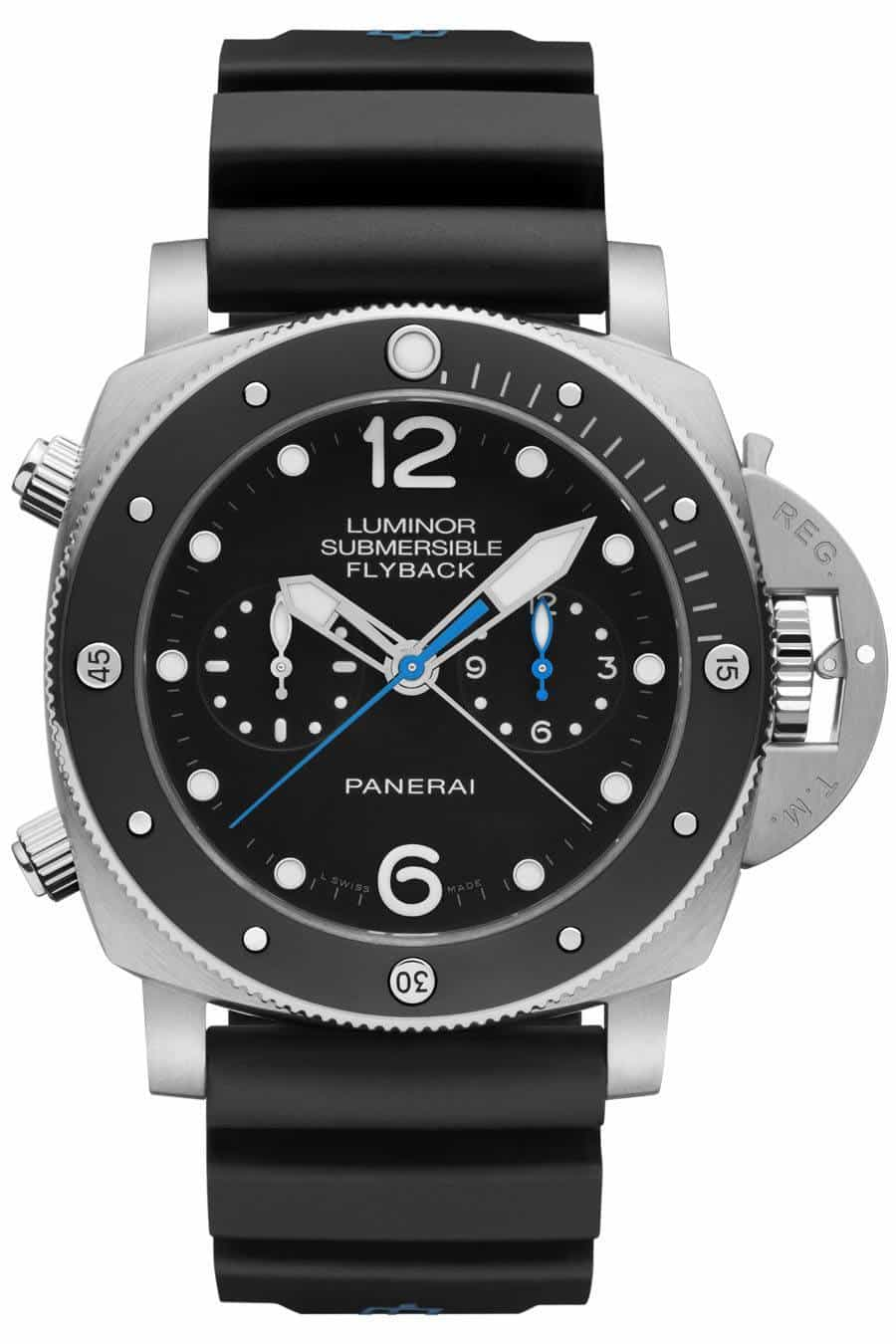 Diving Watches - Panerai Luminor Submersible 1950 3 Days Chrono Flyback Automatic Titanio