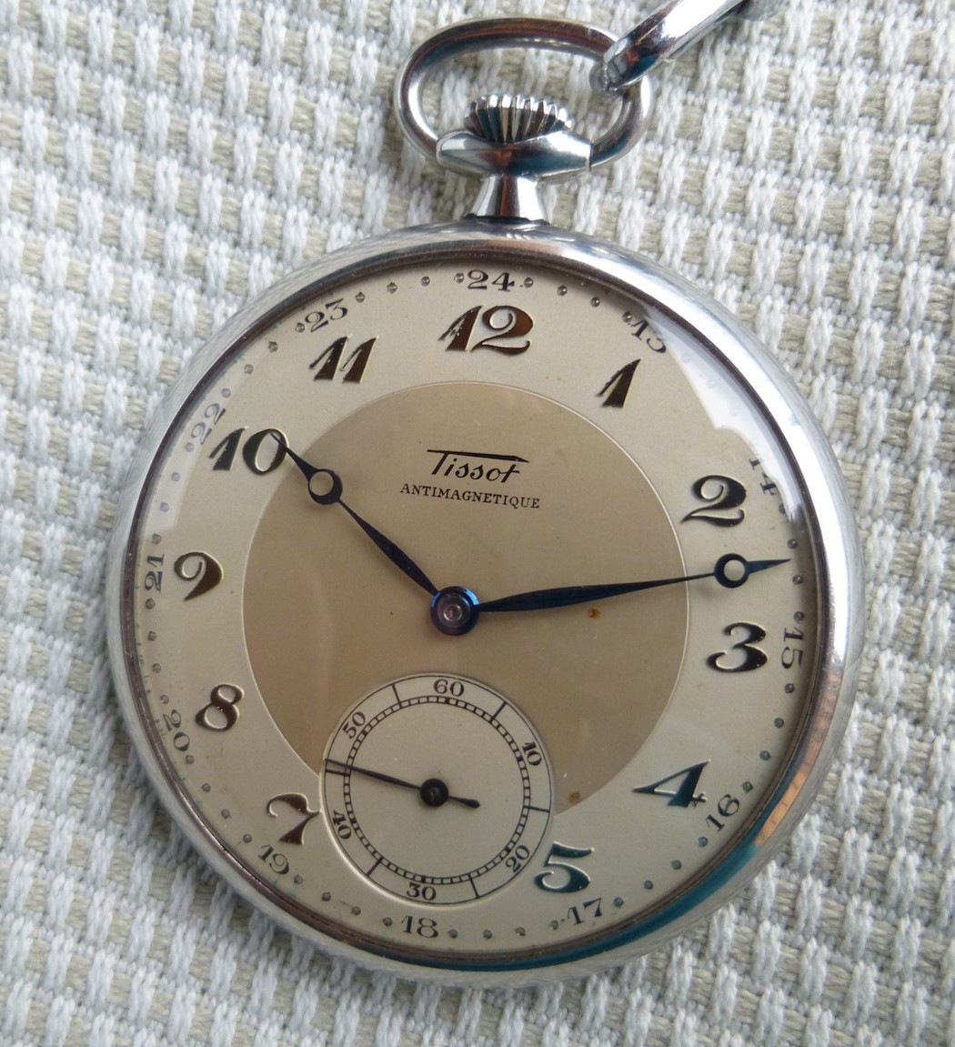 The original Tissot pocketwatch - forms the basis for the Tissot 1936 Heritage (photo credit bubba48 on watchuseek.com)