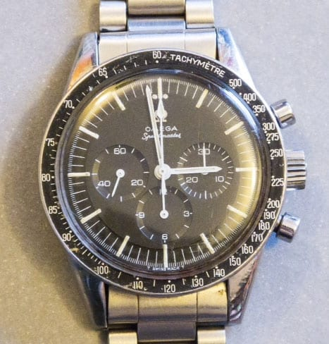 A straight-lug Speedmaster non-Professional but still a 145.012. A 105.003 with a 145.012 caseback?
