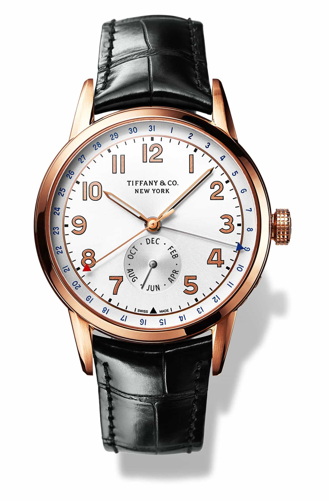 Tiffany CT60 Calendar watch, inspired on the FDR timepiece