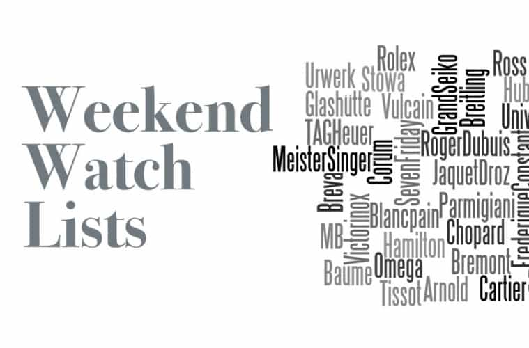 Weekend Watch Lists