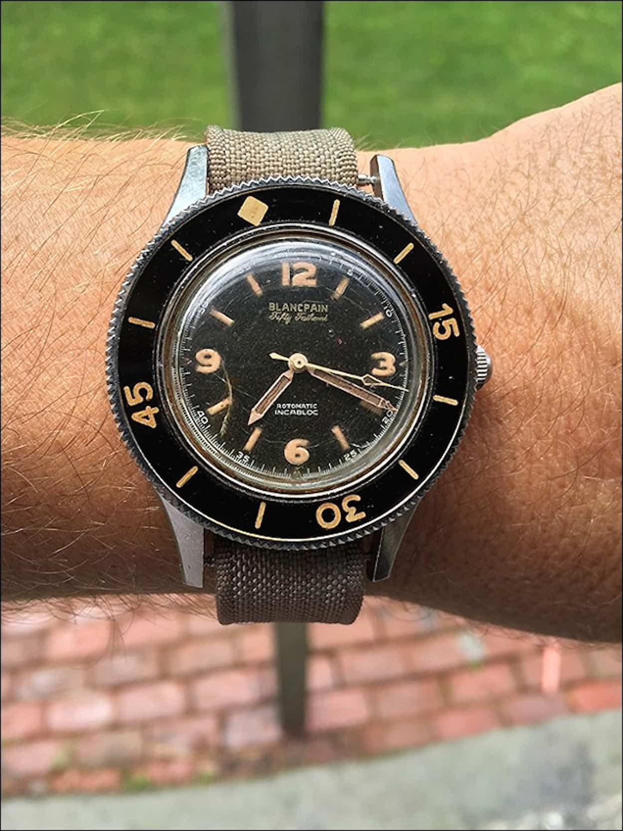 Blancpain Fifty Fathoms with bezel