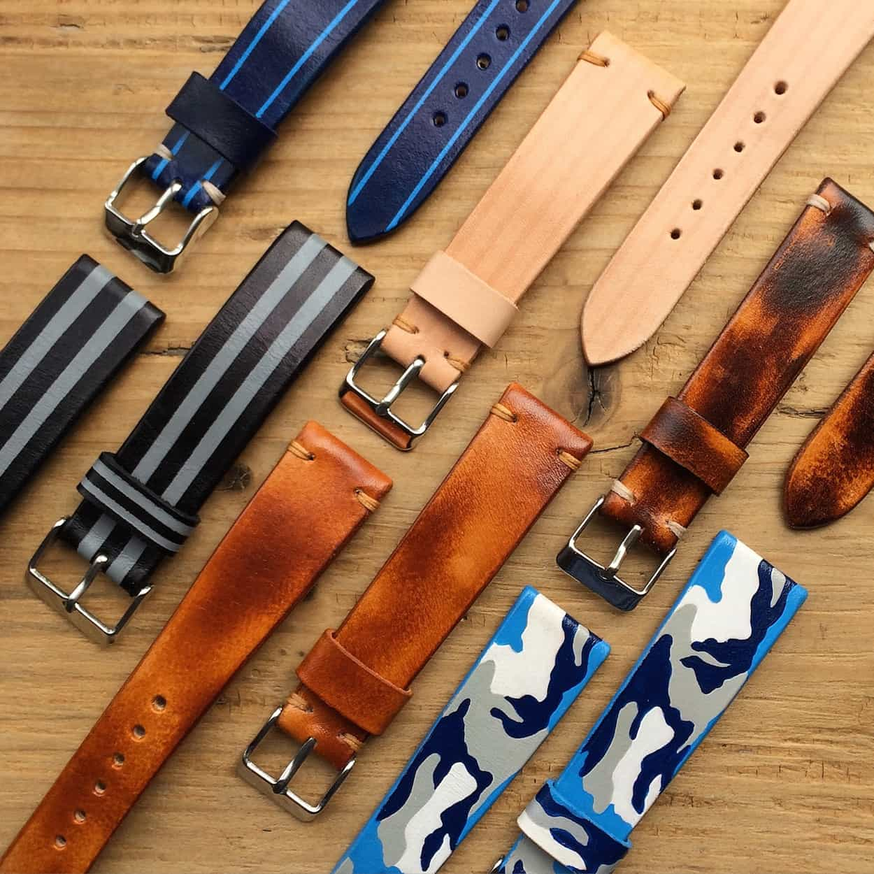 BCatt watch straps in a wide variety