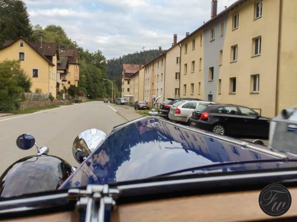 In Germany with Junghans...riding in some amazing old cars